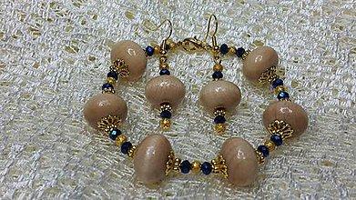Sady šperkov - Set náušnice + náramok - 7334131_