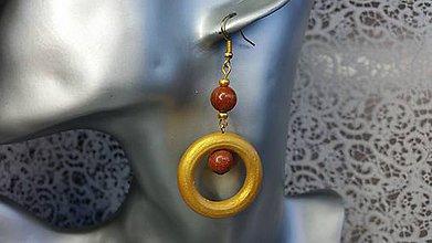 """Náušnice - Náušnice """"zlatý kruh"""" - 7334898_"""
