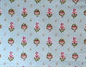 Textil - flanel-ružový kvietok - 7333147_