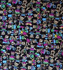 Textil - bavlna-medvedíky - 7333254_