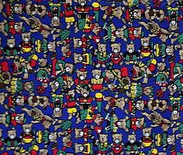 Textil - bavlna-medvedíky - 7333295_
