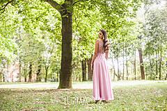 Šaty - Staroružové dlhé šaty Krajka LUPTAKOVA - 7335278_