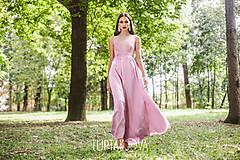 Šaty - Staroružové dlhé šaty Krajka LUPTAKOVA - 7335279_