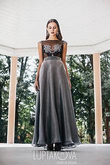 Sukne - Strieborná sukňa dlhá LUPTAKOVA - 7333439_