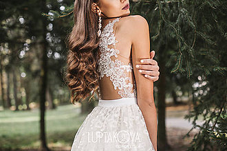 Šaty - Slonovinové svadobné šaty LUPTAKOVA - 7335312_