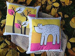 Úžitkový textil - medveď v lese 2 - 7334121_
