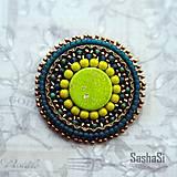 Odznaky/Brošne - Brošňa zelená 1 - 7333477_