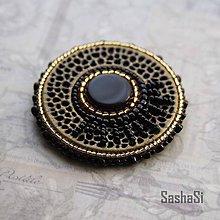 Odznaky/Brošne - Brošňa bronzovo-čierna - 7334036_