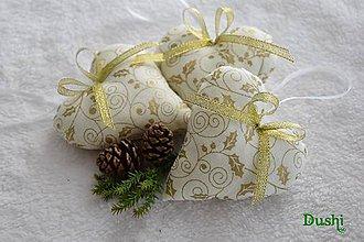 Dekorácie - zlaté Vianoce - 7334727_