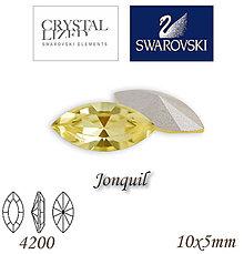 Korálky - SWAROVSKI® ELEMENTS 4200 Navette - Jonquil, 10x5mm, bal.1ks - 7335189_
