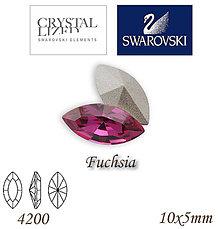 Korálky - SWAROVSKI® ELEMENTS 4200 Navette - Fuchsia, 10x5mm, bal.1ks - 7335224_
