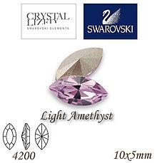 Korálky - SWAROVSKI® ELEMENTS 4200 Navette - Light Amethyst, 10x5mm, bal.1ks - 7335231_