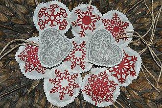 Dekorácie - Snehová vločka 13ks - 7337375_