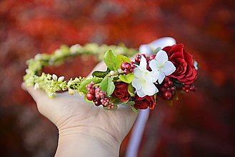 Ozdoby do vlasov - venček by michelle flowers - 7337994_