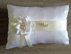 Úžitkový textil - Vankúš pod obrúčky - 7338583_