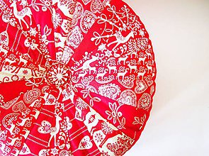 Úžitkový textil - Pampúšik - zimný červený - 7339840_