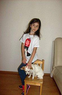 Tričká - Mili so psíkom, detské tričko 128 - 134 - 7338018_