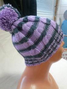 Detské čiapky - Pruhovaná čiapka - 7341013_