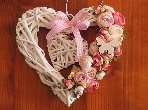 efc6a28bd Vintage srdce ružovo-smotanové s motýlikom / erikak - SAShE.sk ...