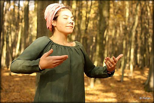 Topy - Ľanová blúzka zelená - 7344360_