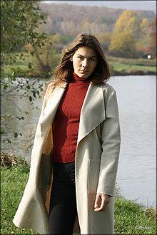 Kabáty - Vlnený kabát - 7344790_