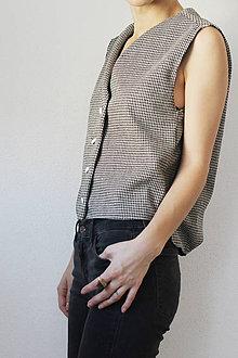 Iné oblečenie - Vesta kohútie stopy - 7342211_