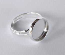 Komponenty - Lôžko na prsteň, strieborná farba,12 mm /RK2/ - 7343656_