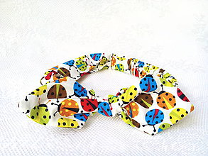 Ozdoby do vlasov - Pin Up headband on elastic for kids (coccinelles) - 7343129_