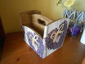 Krabičky - levanduľové srdce do kuchyne - 7342329_