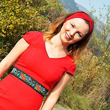 Opasky - Folklórny opasok široký Jolanka - 7345393_