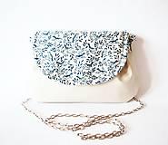 - Biela kabelka s retiazkou - vtáci - 7344185_
