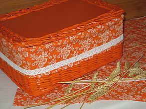 Košíky - Košík - Na chlebík orange - 7343056_