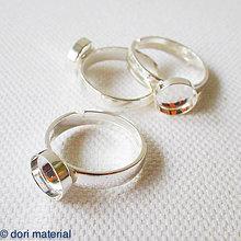 Komponenty - strieborný univerzálny prsteň (Ag 925), lôžko 8 mm - 7344033_