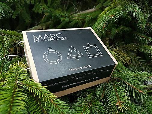 Geometrické vianočné ozdoby - 6ks