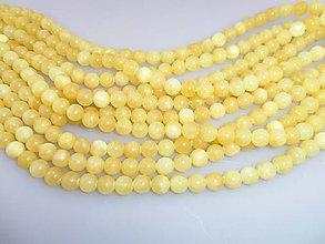 Minerály - kalcit korálky 10mm - kalcit žltý - 7342224_