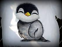Detské oblečenie - Tučniačik na detskom tričku - 7342194_
