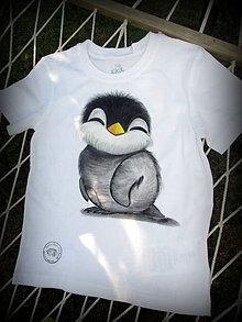 Detské oblečenie - Tučniačik na detskom tričku - 7342192_