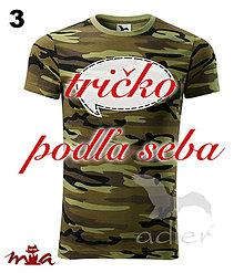 Oblečenie - Tričko podľa seba - camouflage - 7343015_