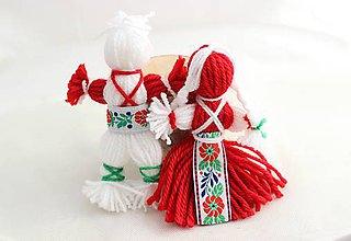 Dekorácie - Vianočný párik folk - 7343033_