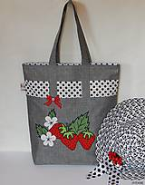 Nákupné tašky - Ekotaška - jahody - 7343827_