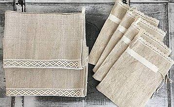 Úžitkový textil - Darčeková súprava NATUR - 7344579_