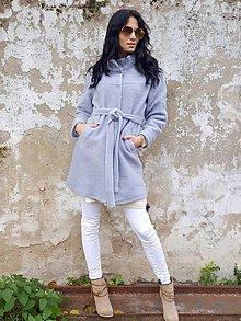 Kabáty - Kabátik vlnený bledo-modrý - 7344396_