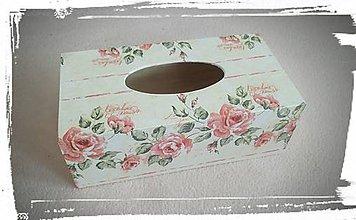 Dekorácie - Krabička na vreckovky - 7350070_