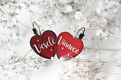 Náušnice - Vianočné - 7347843_