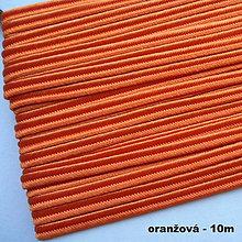 Galantéria - Šujtáš 3mm-cca 10m (oranžová) - 7350058_