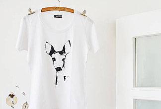 Tričká - 2x tričko M, srnka a amazonka - rezervácia - 7346331_