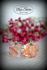 Náušnice - Náušnice Ružové kocky (2071 A CHO) - 7346372_
