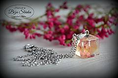 Náhrdelníky - Náhrdelník Ruža v kocke (2071 B CHO) - 7346601_
