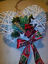 Dekorácie - Vianočné srdce - 7349533_