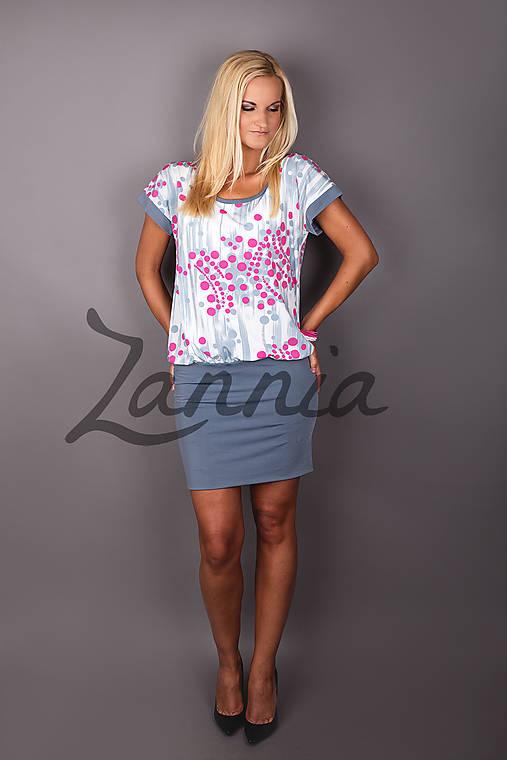 Šaty - šedo ružové guličky   Zannia - SAShE.sk - Handmade Šaty 285ffde5f85